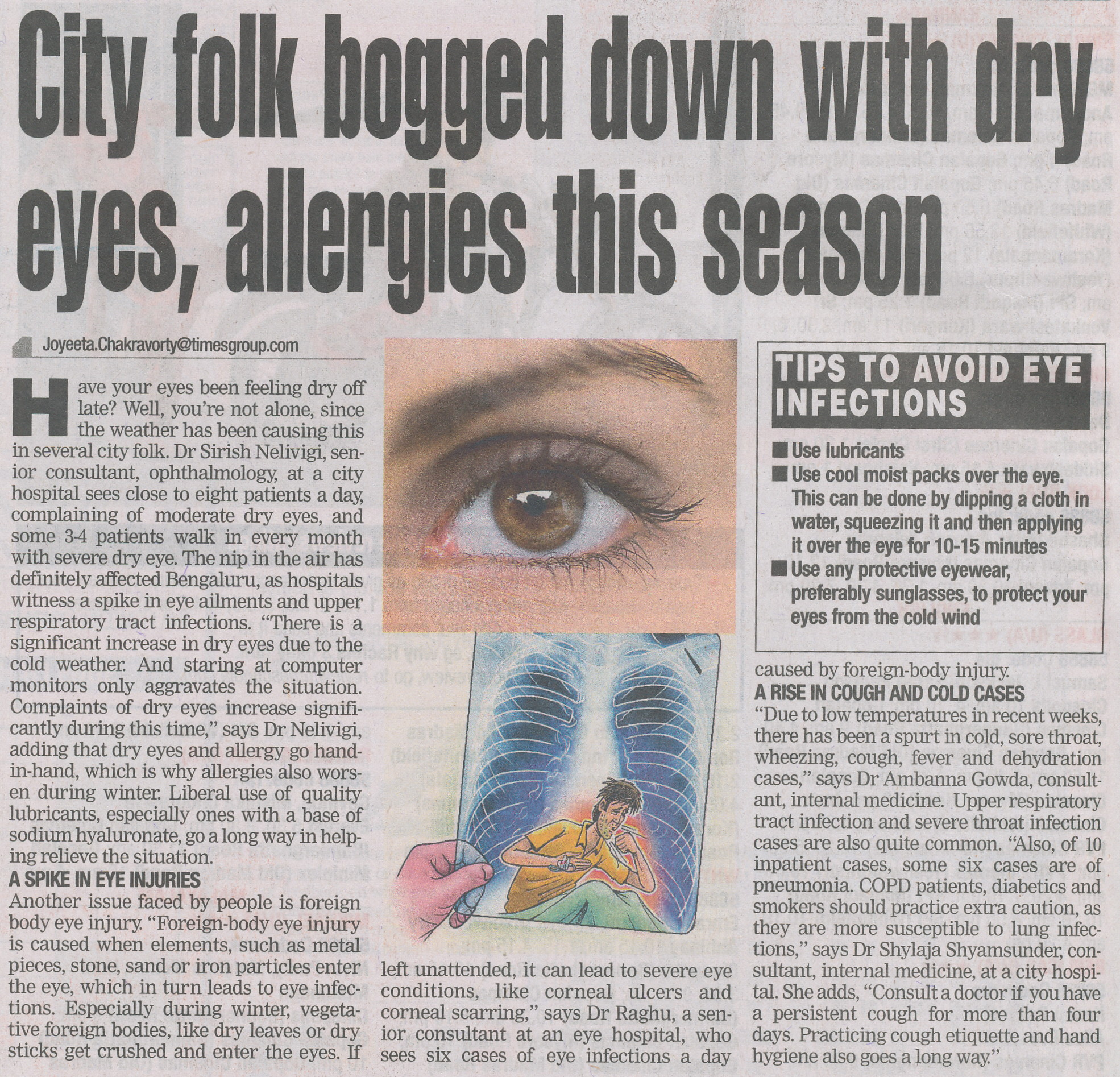 City folk bogged down with dry eyes, allergies this season